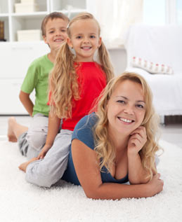 Carpet cleaning company in Oakville Ontario Steamworks steam cleaning for families